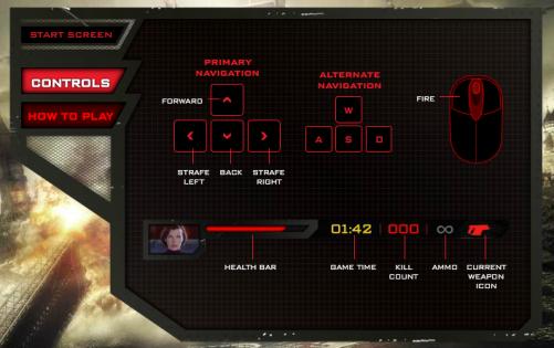Resident Evil Retribution Undead Unleashed - Controles