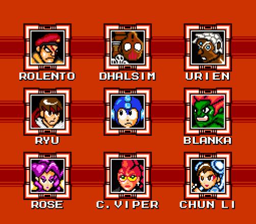 Street Fighter X Mega Man - Jefes