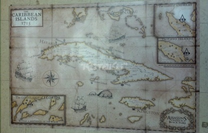 Assassin's Creed IV Black Flag - Mapa Caribe