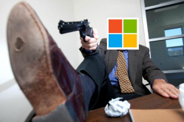 Microsoft disparandose en el pie
