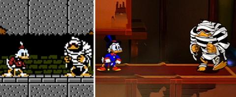 DuckTtales Remastered - Comparacion NES