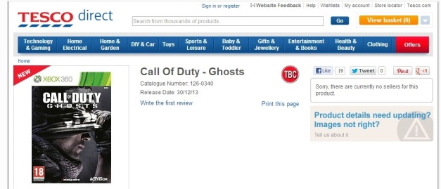 Call of Duty Ghosts - TESCO