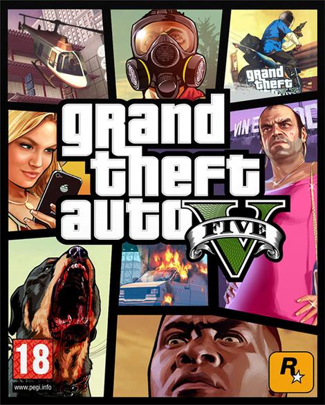 esta es la portada oficial de grand theft auto v y de