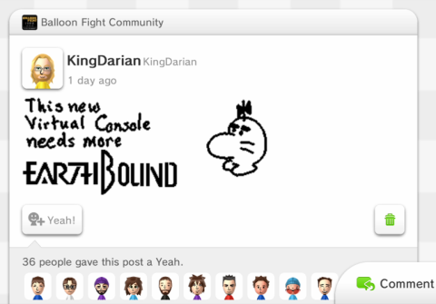 Miiverse - EarthBound