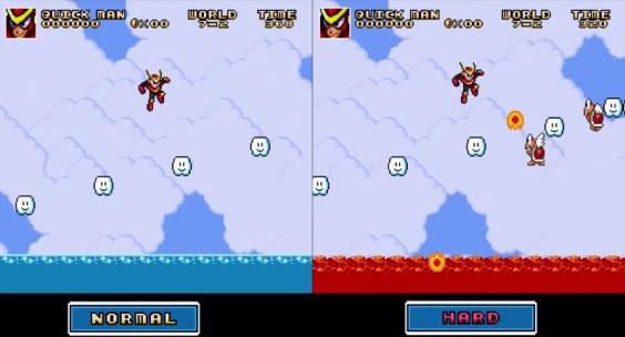 Super Mario Bros Crossover 3.0 - Direrencia entre Normal y Hard