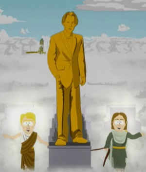 Keanu Reeves estatua - South Park