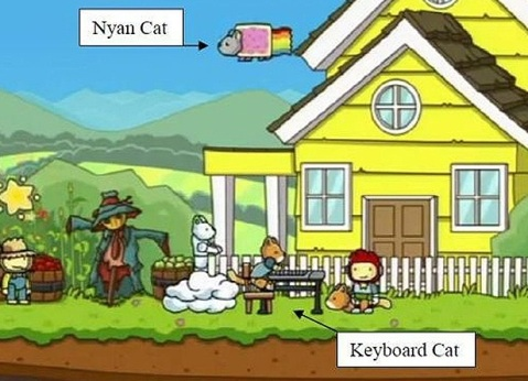 Scribblenauts -Nyan Cat - Keyboard Cat