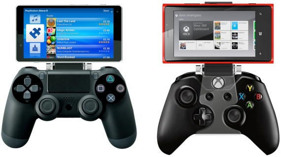 Nyko - Sujetador smartphone para PS4 y Xbox One