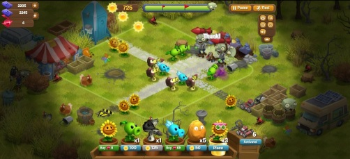Plants vs Zombies Adventures - Gameplay basico