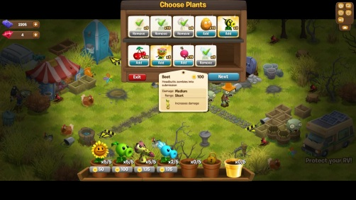 Plants vs Zombies Adventures - Plantas