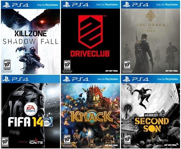 PS4 - Cajas de videojuegos