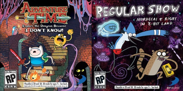 Adventure Time Explore the Dungeon Because I DON'T KNOW! y Regular Show Mordecai and Rigby In 8-Bit Land