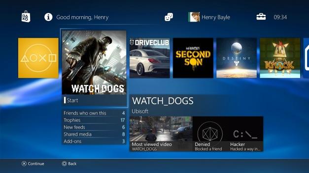 PS4 - Interfaz Sistema Operativo