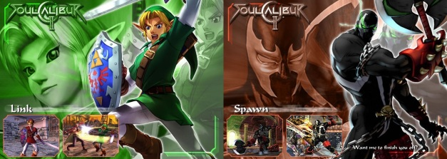 Soul Calibur II - Link & Spawn
