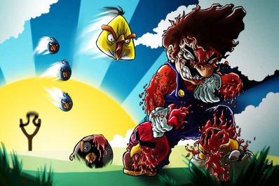 mario_vs__angry_birds_by_hermesgildo