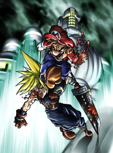 mario_vs__cloud_by_hermesgildo