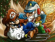 mario_vs__dig_dug_by_hermesgildo