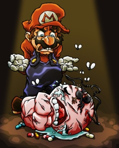 mario_vs__isaac_by_hermesgildo