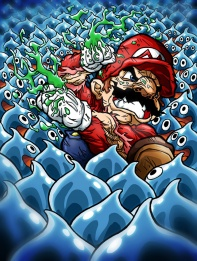 mario_vs__slimes_by_hermesgildo