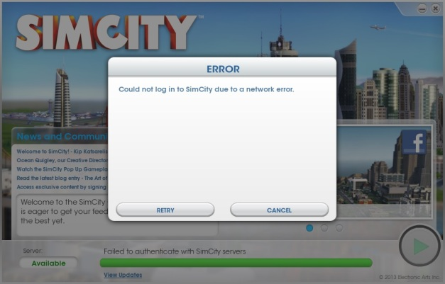 SimCity - Login