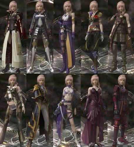 Lightning Returns Final Fantasy XIII - Trajes