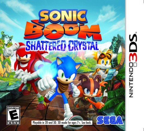 Sonic Boom Shattered Crystal - 3DS Box Art