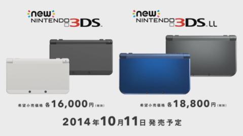 New Nintendo 3DS & New Nintendo 3DS LL - Precio
