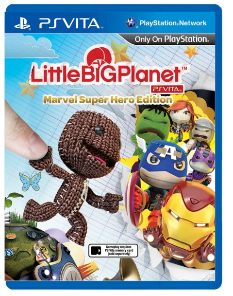 LittleBigPlanet PlayStation Vita Marvel Super Hero Edition - Box art