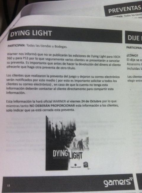 Dying Light cancelado para PS3 y Xbox 360