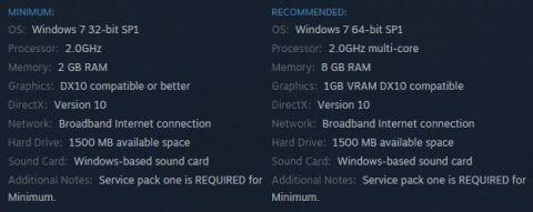Minimum - Requisitos minimos y recomendados