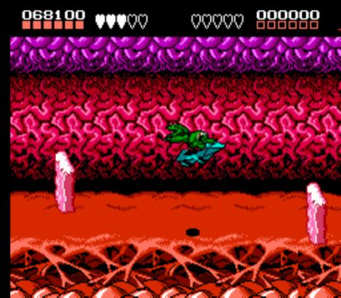 Battletoads (NES) - Turbo Tunnel