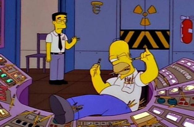 Homero Simpson tratando de ser profesional