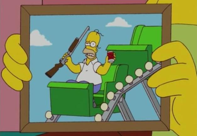 Homero Simpson - Montaña rusa
