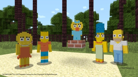 Minecraft - The Simpsons Skin Pack (Gameplay)