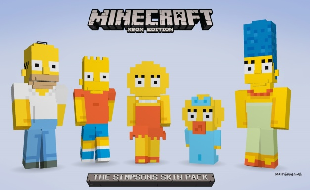 Minecraft - The Simpsons Skin Pack