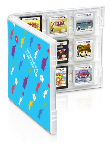 Nintendo 3DS Game Card Case 18 - Pikmin & Super Mario Bros