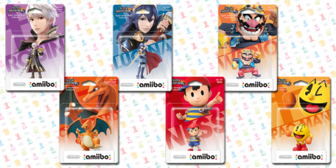 Nueva oleade de amiibos - Robin, Lucina, Pac-Man, Wario, Ness y Charizard