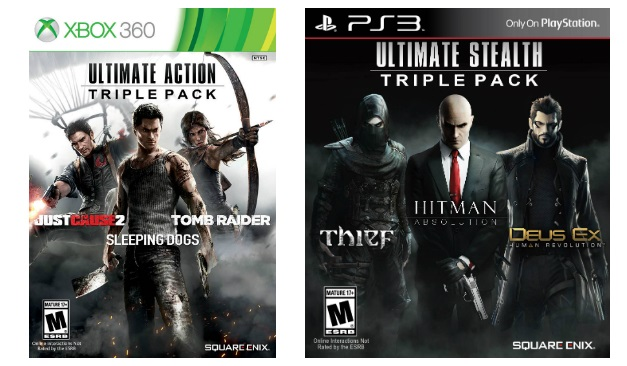 Ultimate Action Triple Pack y Ultimate Stealth Triple Pack -Box art