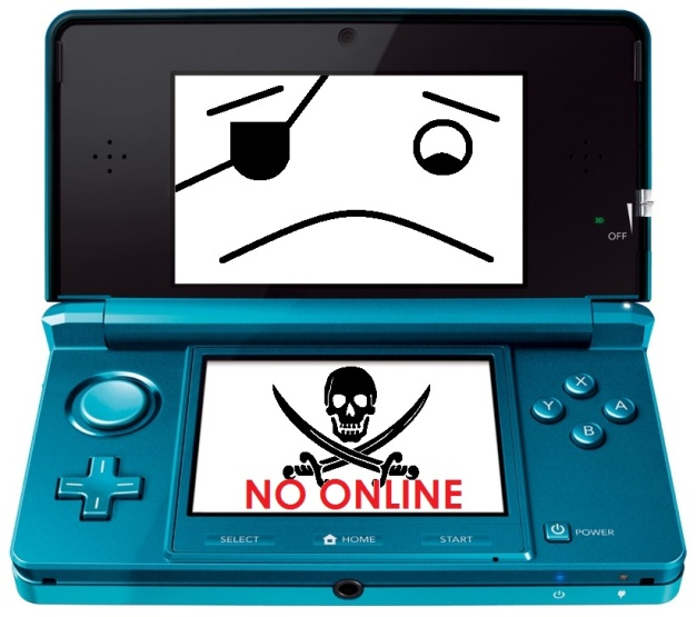 3DS - Ban online por pirateria
