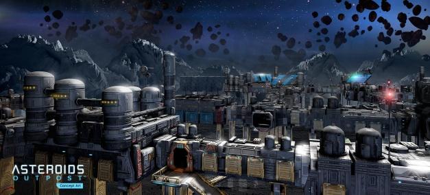 Asteroids Outpost - Arte conceptual (1)