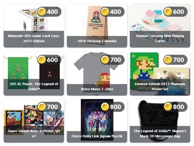 Club Nintendo - Nuevos premios fisicos Febrero 2015
