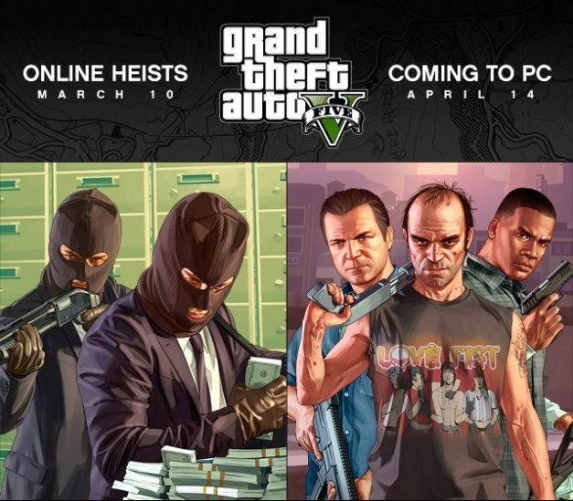 GTA V PC & Online Heists