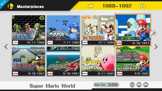 Super Smash Bros for Wii U - Masterpieces