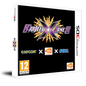 Project X Zone 2 (3DS) - Box art