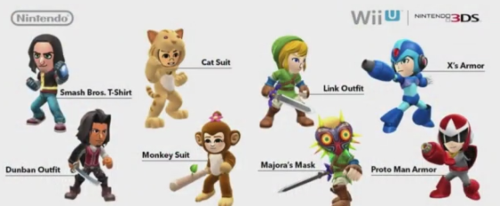 Super Smash Bros for Wii U & 3DS - Trajes extras