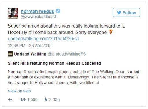 Twitter - Declaraciones de Norman Reedus sobre Silent Hills