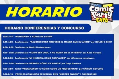 Comic Party Expo 2015 - Conferencias