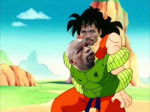 Dramatizacion -Mayweather vs Paquiao (Dragon Ball Z)