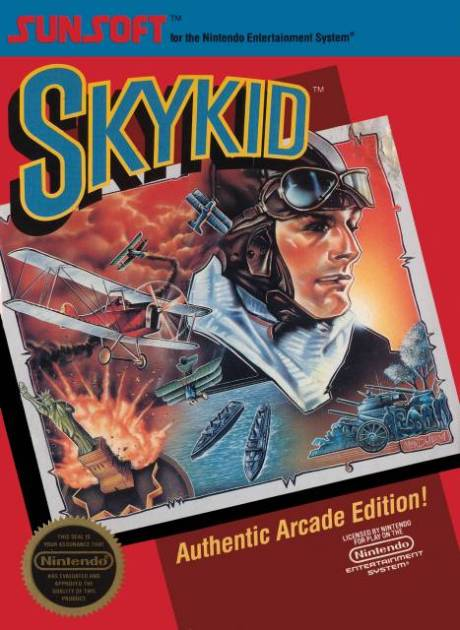 Sky Kid (NES) - Box art
