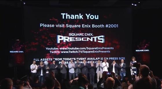 E3 2015 - Conferencia Square Enix (despedida)